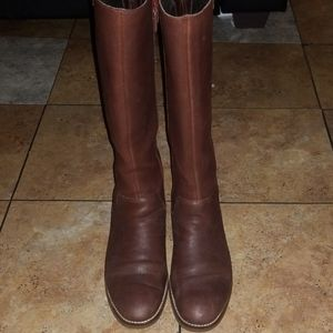 Cole haan high brown leather boots